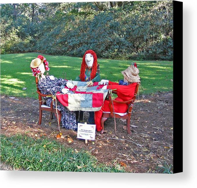 The Quilting Bee Scarecrows Canvas Print Canvas Art By Marian Bell