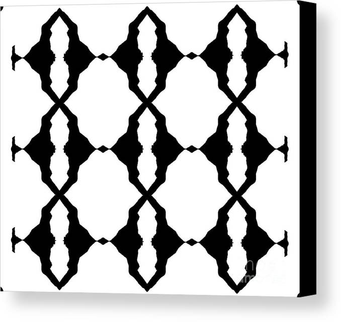 Black And White Digital Art Canvas Print featuring the digital art Black And White No.180. by Drinka Mercep