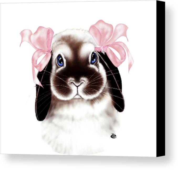 Bunny Canvas Print featuring the digital art Bunny by Elaine VanWinkle