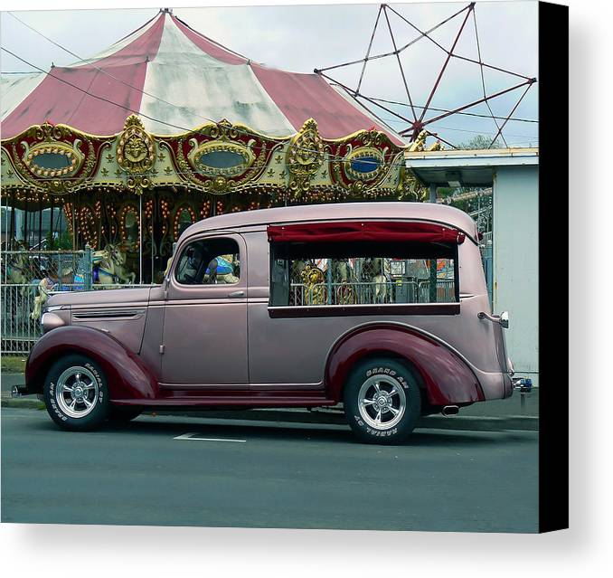 Classic Canvas Print featuring the photograph Purple Panel by Pamela Patch