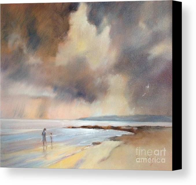 Pamela Pretty Canvas Print featuring the painting Storm Watchers by Pamela Pretty