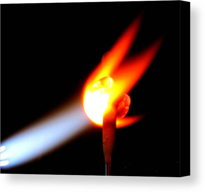 Fire Canvas Print featuring the photograph Glass Bead Making by Sarah Houser