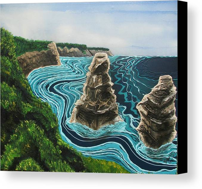 Sea Canvas Print featuring the painting 2 Of The 12 by Joan Stratton