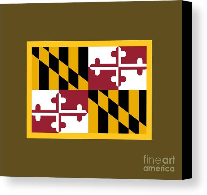 Flag Canvas Print featuring the digital art Maryland Flag by Frederick Holiday