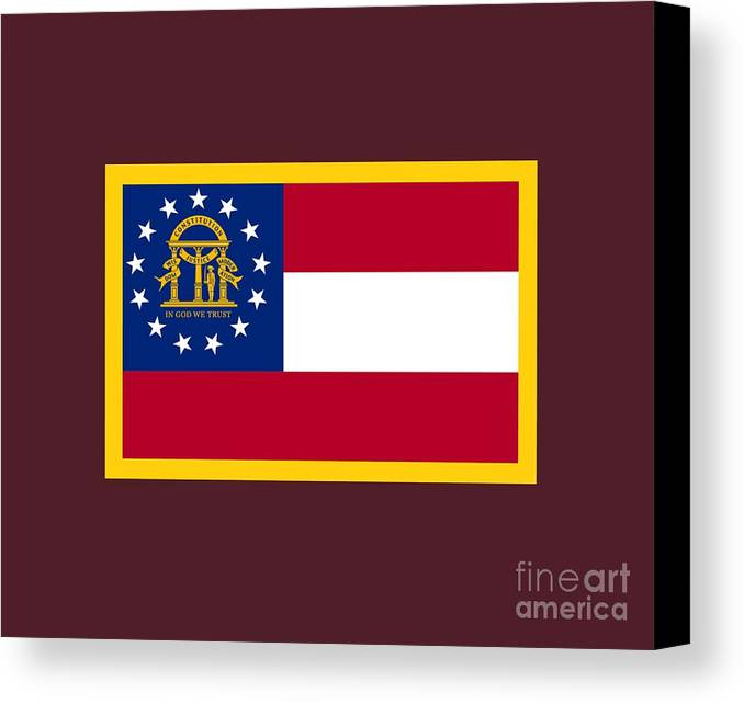 Flag Canvas Print featuring the digital art Georgia Flag by Frederick Holiday