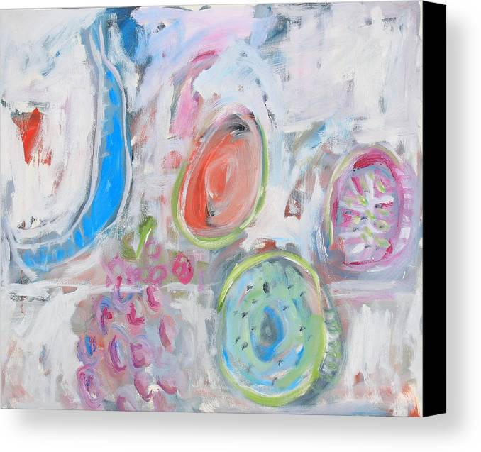 Still Life Canvas Print featuring the painting Blue Banana by Michael Henderson