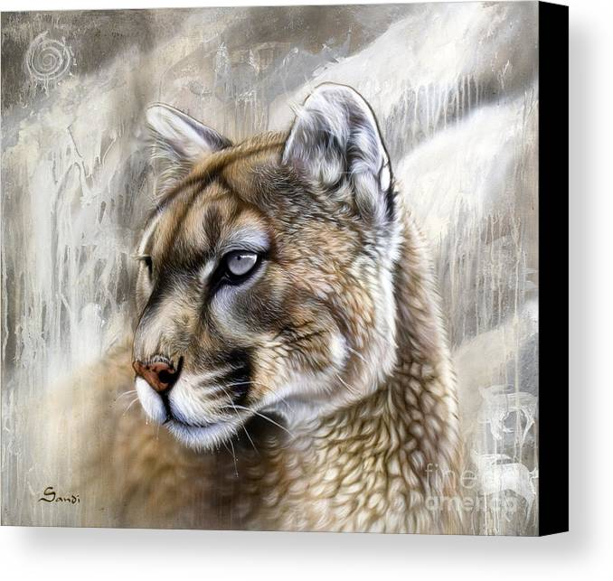 Acrylic Canvas Print featuring the painting Catamount by Sandi Baker
