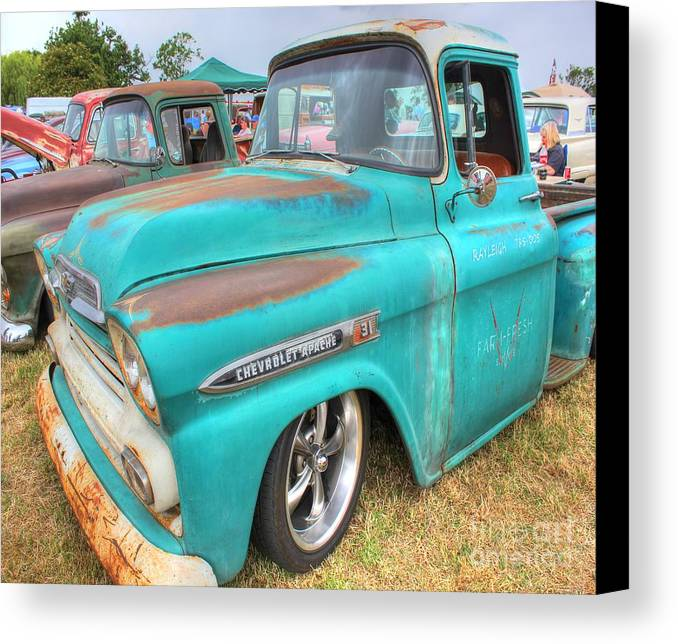 Chevrolet Canvas Print featuring the photograph Chevrolet Apache by Vicki Spindler
