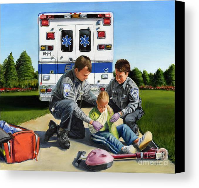 Ems Canvas Print featuring the painting Compassion by Paul Walsh