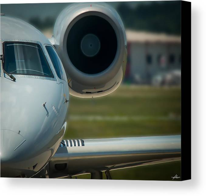 Regional Jet Canvas Print featuring the photograph Embraer Erj by Philip Rispin