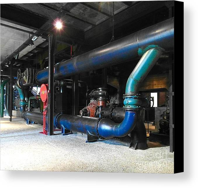 Belgium Canvas Print featuring the photograph Historical Pipes by Elisabeth Derichs