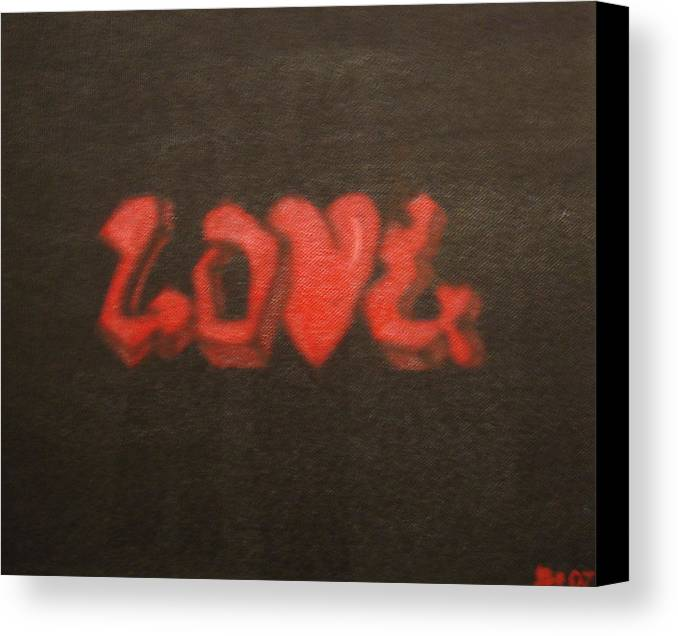 Love Canvas Print featuring the painting Love2 by Vykky Gamble