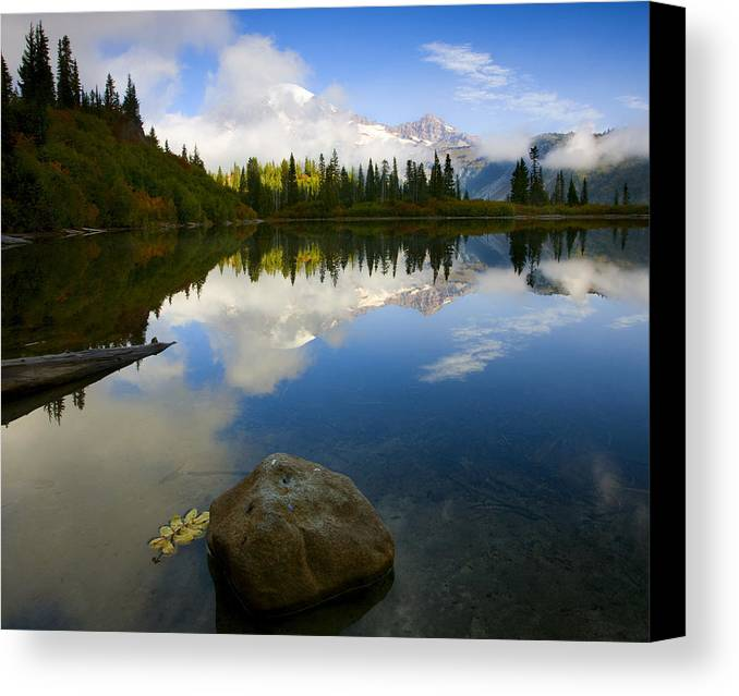 Mt. Rainier Canvas Print featuring the photograph Majesty Revealed by Mike Dawson