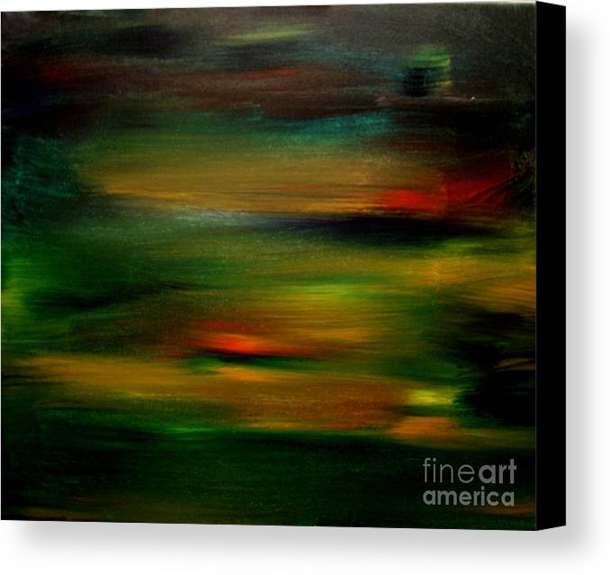 Sunset Canvas Print featuring the painting Peninsula Sunset 2 by Karen L Christophersen