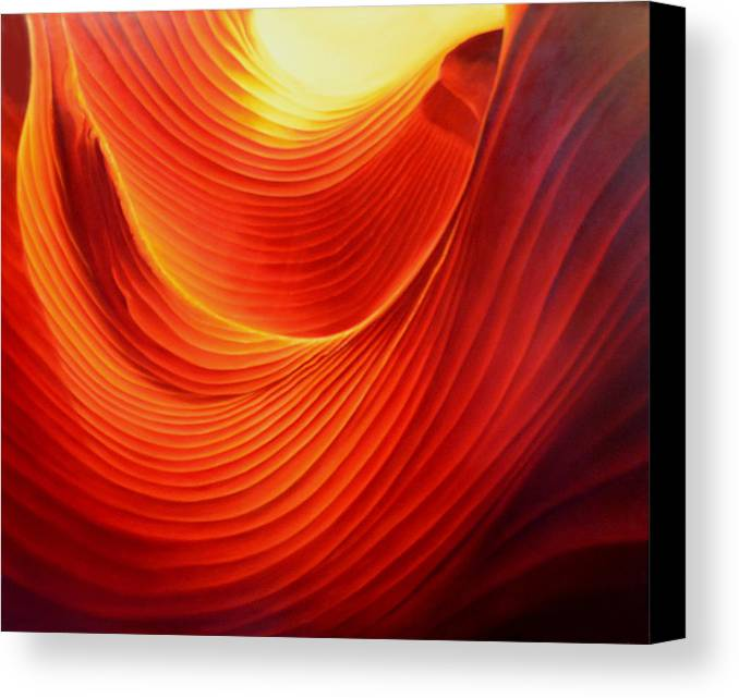 Antelope Canyon Canvas Print featuring the painting The Swirl by Anni Adkins