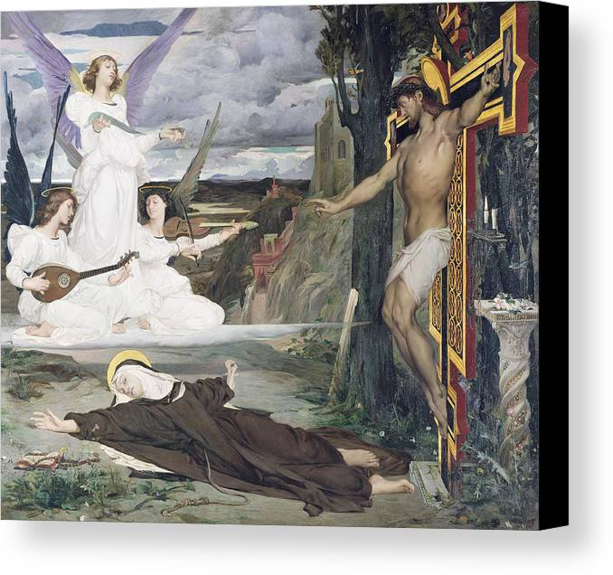 The Canvas Print featuring the painting The Vision by Luc-Oliver Merson