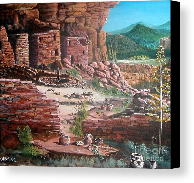 Native America Canvas Print featuring the painting Undiscovered by John Wise