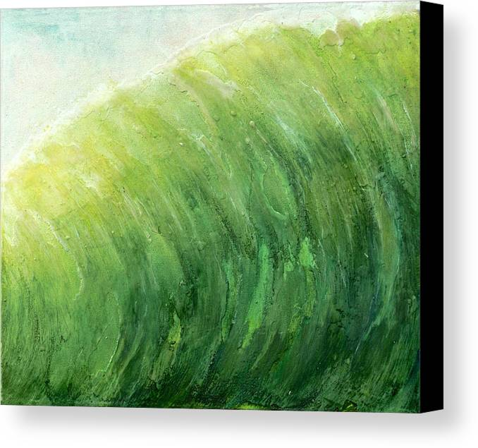 Original Painting Canvas Print featuring the painting wave IV by Martine Letoile