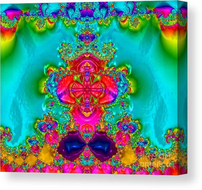 Karma Canvas Print featuring the digital art Balanced Chakra by Keri West