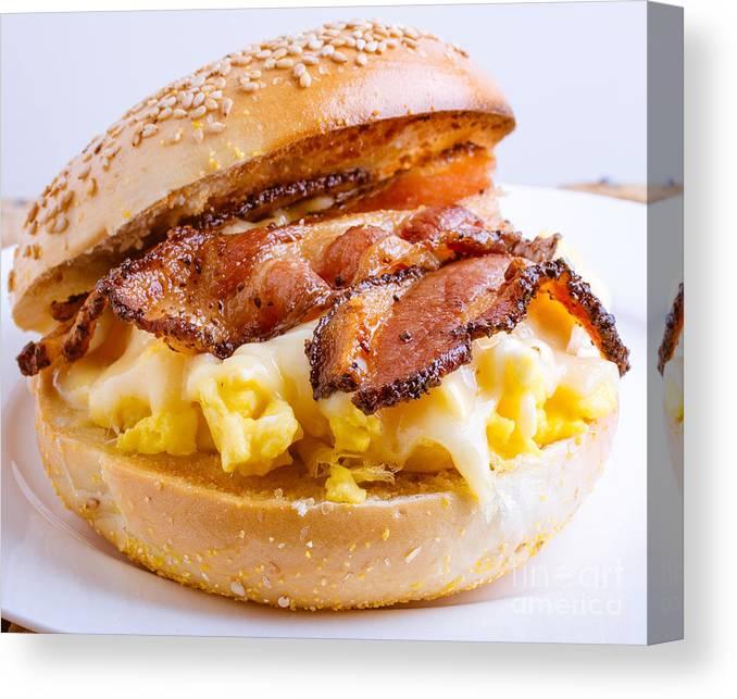 Breakfast Canvas Print featuring the photograph Breakfast Sandwich by Edward Fielding