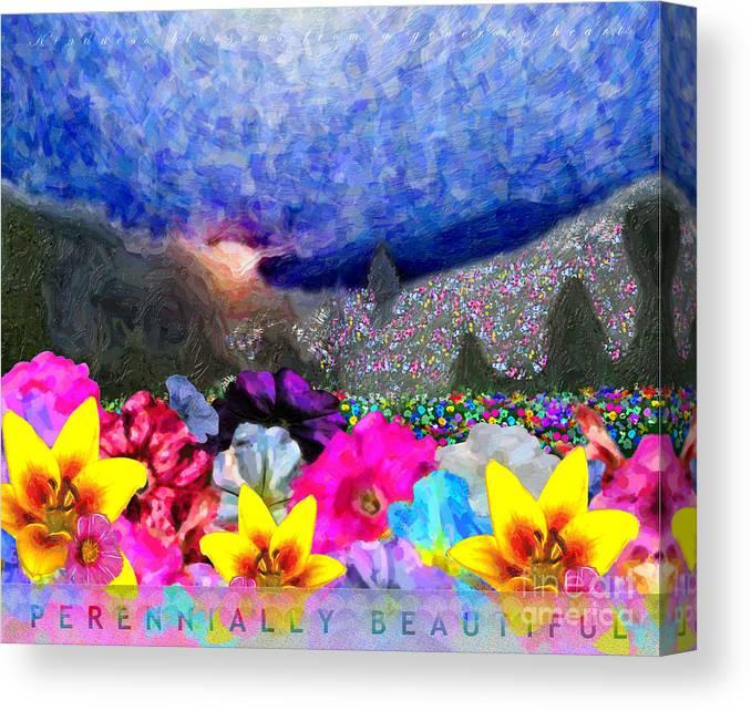 David Glotfelty Canvas Print featuring the digital art Perennially Beautiful II by David Glotfelty