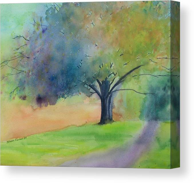 Tree Canvas Print featuring the painting Autumn Splendor by Sharon Farber