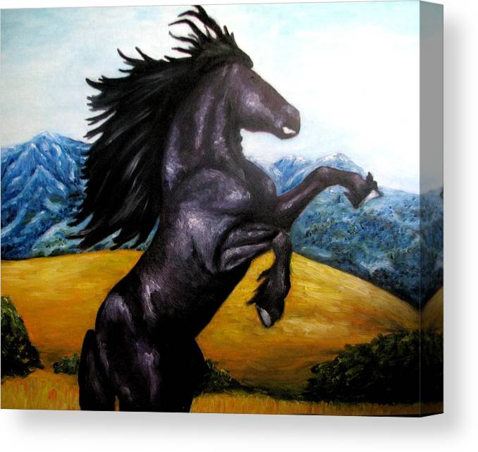 Horse Canvas Print featuring the painting Horse Oil Painting by Natalja Picugina
