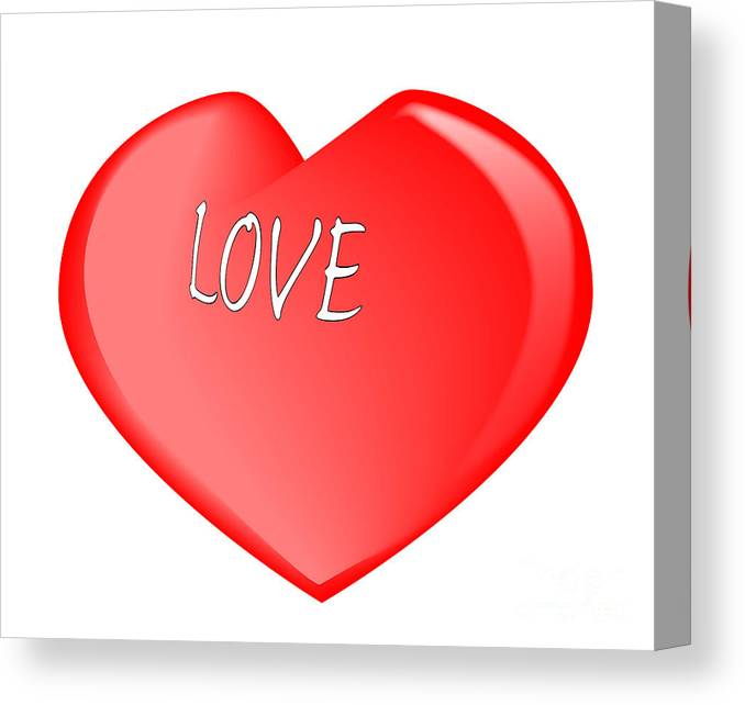 Love Canvas Print featuring the digital art Love Heart by Bigalbaloo Stock