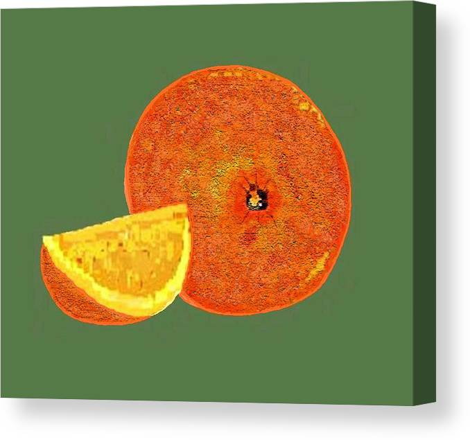 Fruit Canvas Print featuring the digital art Orange by Carole Boyd