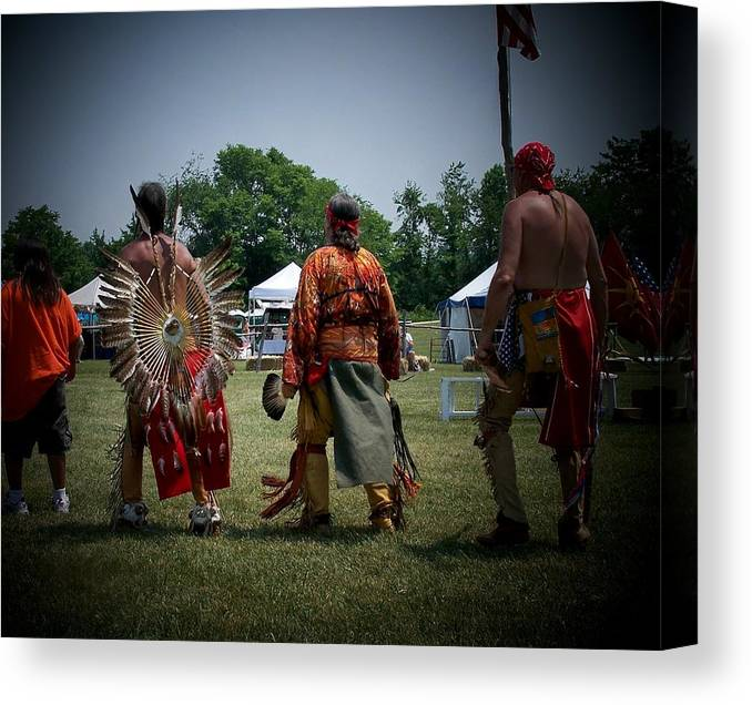 Pow Wow Canvas Print featuring the photograph Pow Wow by Vijay Sharon Govender