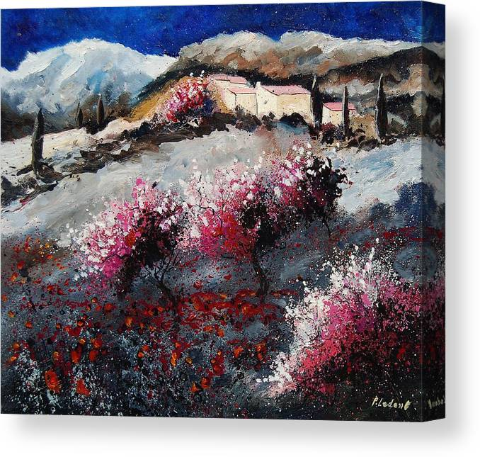 Provence Canvas Print featuring the painting Provence 675458 by Pol Ledent