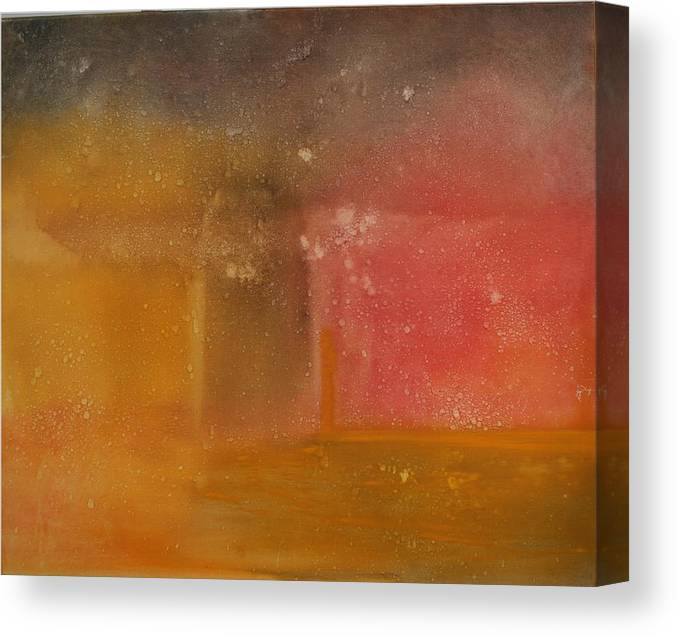 Storm Summer Red Yellow Gold Canvas Print featuring the painting Reflection Summer Storm by Jack Diamond