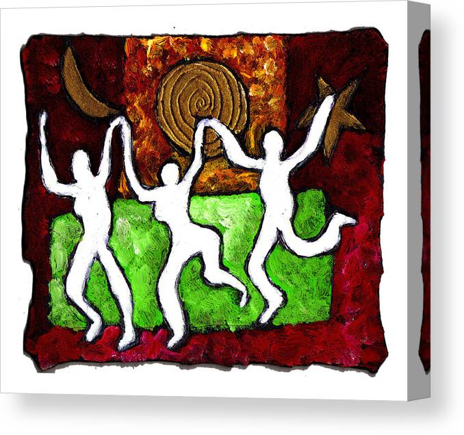 Dance Canvas Print featuring the painting Spirits Of The Dance by Wayne Potrafka