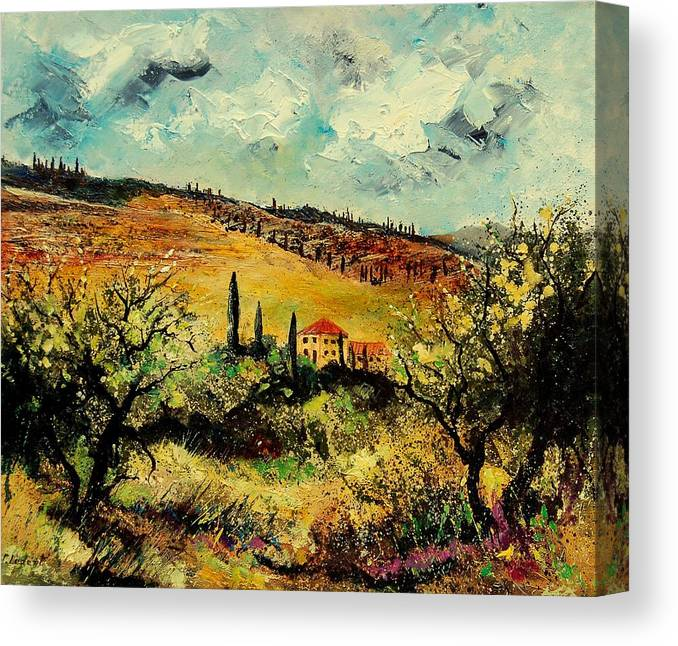 Provence Canvas Print featuring the painting Tuscany 67 by Pol Ledent