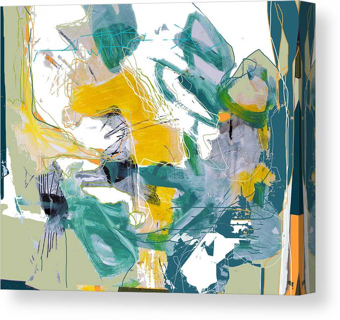Abstract Canvas Print featuring the digital art Vital Signs by Dale Witherow