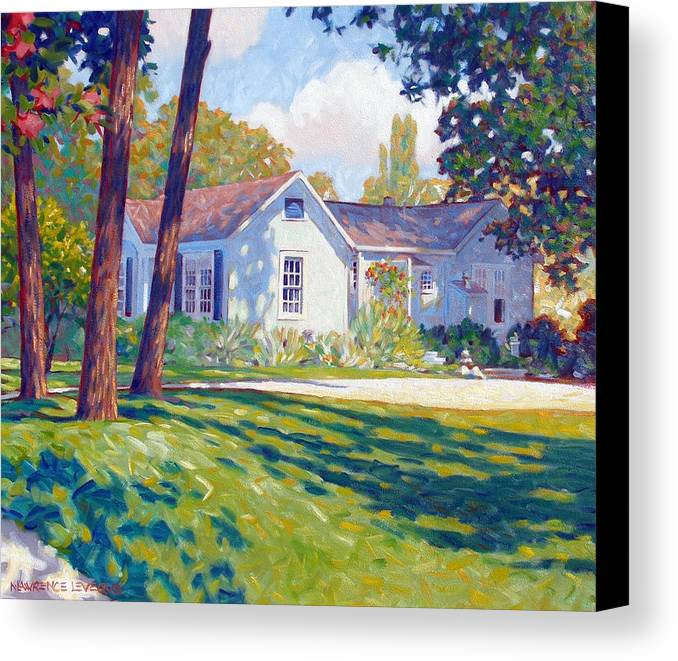 City Canvas Print featuring the painting Artists Home by Kevin Lawrence Leveque
