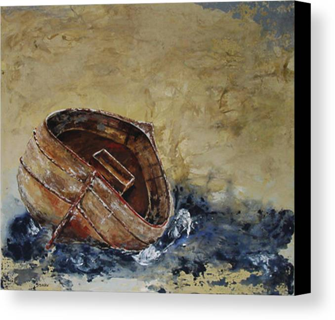 Shaw Canvas Print featuring the painting Barca by Jacqueline Shaw
