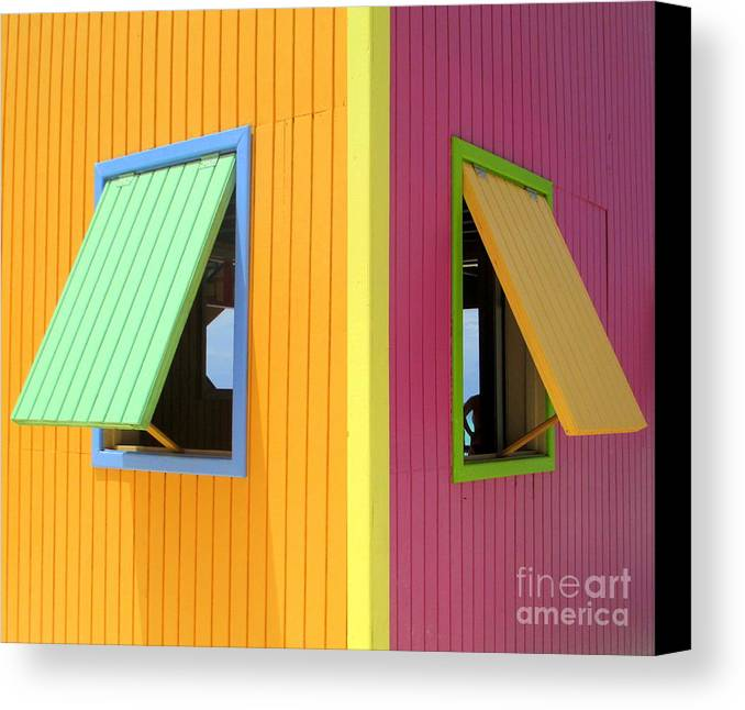 Caribbean Corner Canvas Print featuring the photograph Caribbean Corner 3 by Randall Weidner