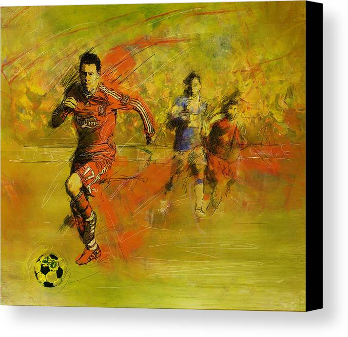 Sports Canvas Print featuring the painting Soccer by Corporate Art Task Force