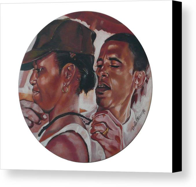The Dream Team Canvas Print featuring the painting The Dream Team by Belle Massey
