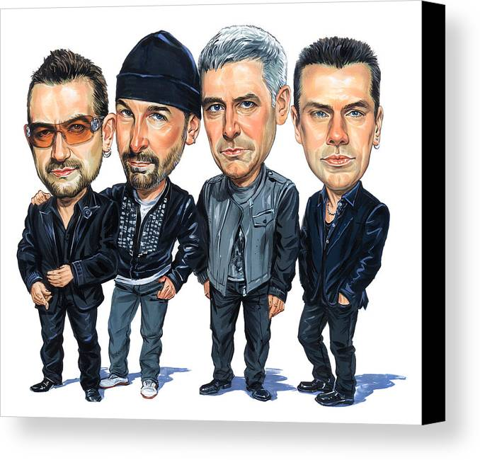 U2 Canvas Print featuring the painting U2 by Art