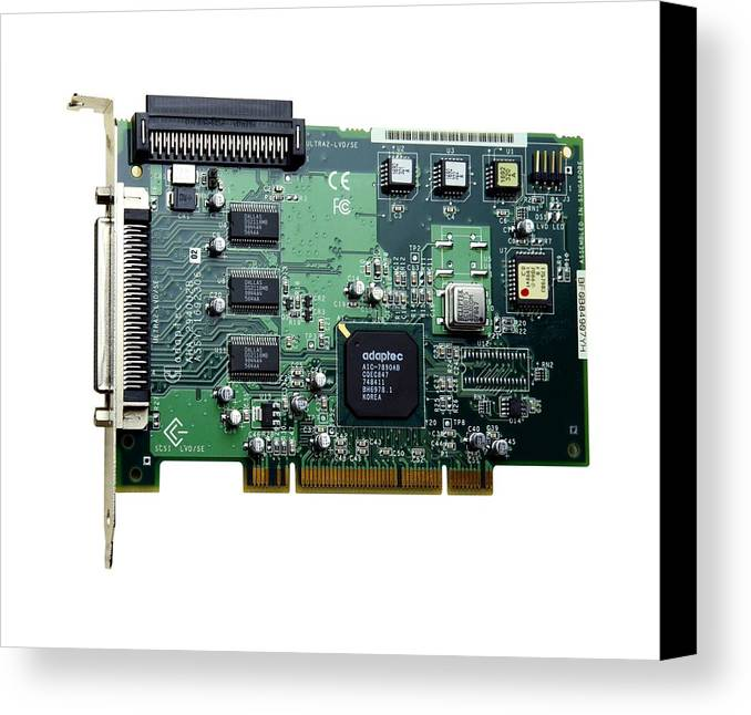 Scsi Card Canvas Print featuring the photograph Scsi Card by Victor De Schwanberg