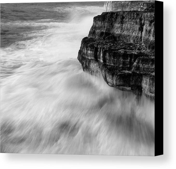 Sea Canvas Print featuring the photograph Stormy Sea 1 by Pedro Cardona Llambias