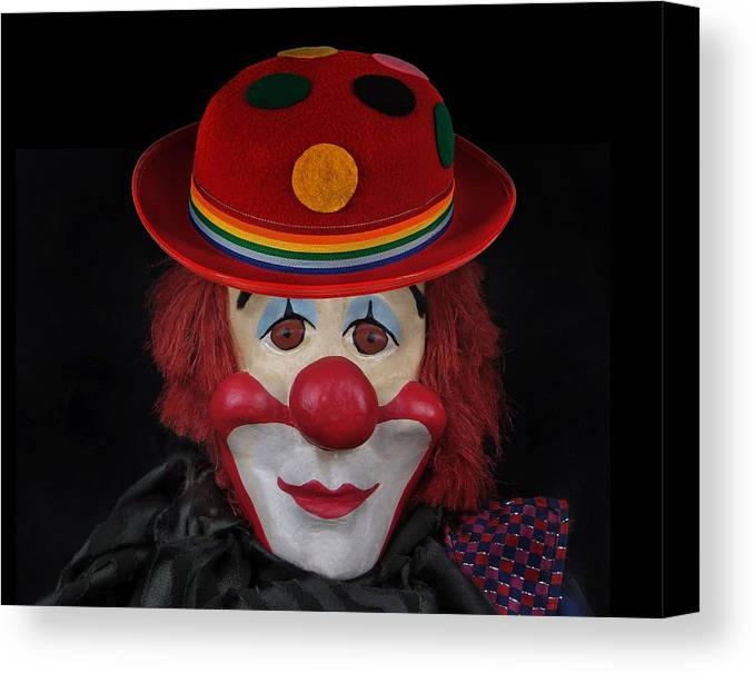 Clown Canvas Print featuring the photograph The Clown 3 by Manfred Lutzius