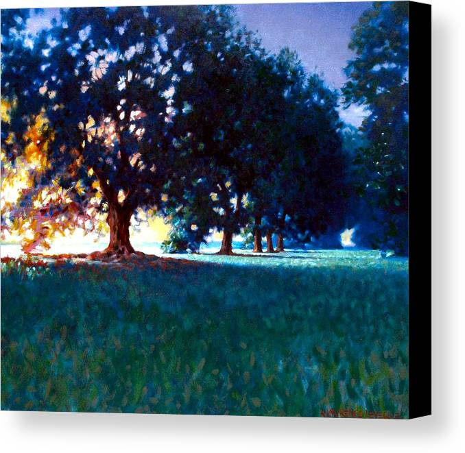 Oak Canvas Print featuring the painting Five Oaks by Kevin Lawrence Leveque