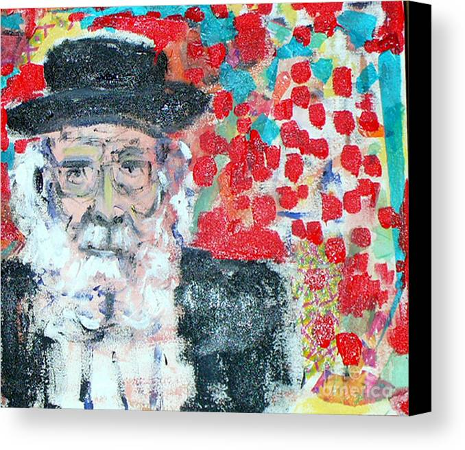 Israel Canvas Print featuring the painting Jerusalem Man by Joyce Goldin