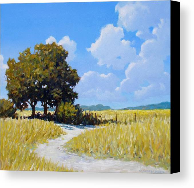 Landscape Canvas Print featuring the painting Left Or Right by Kevin Lawrence Leveque