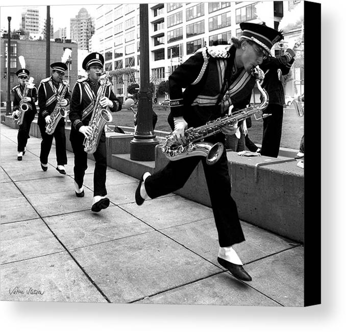 Marching Band Canvas Print featuring the photograph Tune Up by Sabine Stetson