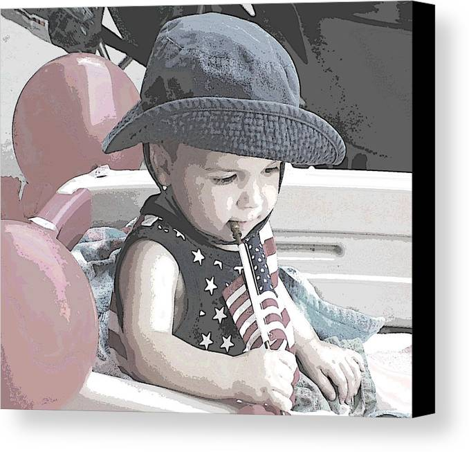 Children Canvas Print featuring the photograph Children Series by Ginger Geftakys