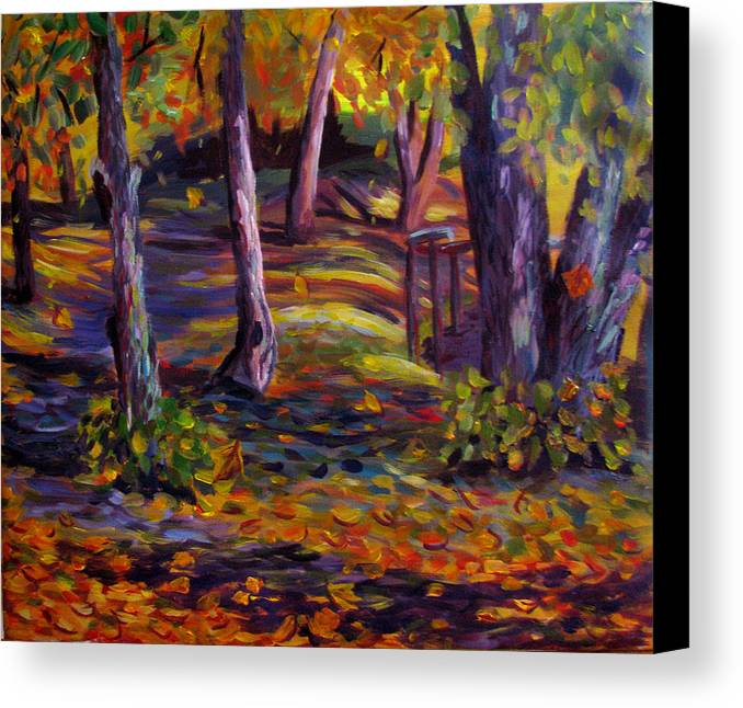 Autumn Canvas Print featuring the painting Autumn Glory by Art Nomad Sandra Hansen